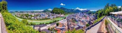 Posters Blick vom Mönchberg auf die Altstadt von Salzburg, Österreich