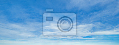 Posters Blue sky background with clouds