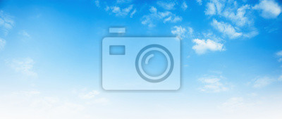 Posters blue sky with white cloud background