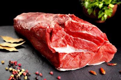 Posters bodegón, pieza de carne, chuleton listo para cocinar