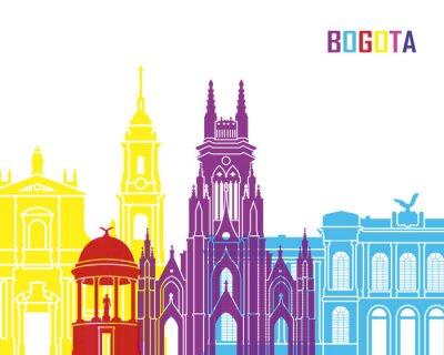 Posters Bogota skyline pop