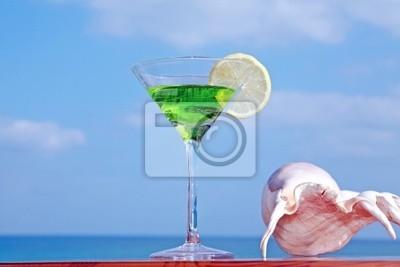 Boisson tropicale en verre de verre