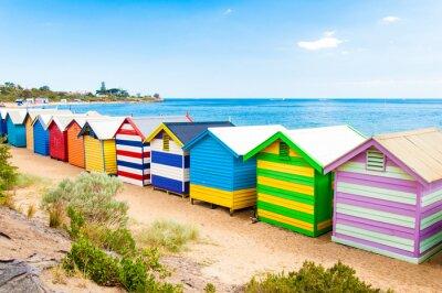 Posters Boîtes de baignade à Brighton Beach, Australie
