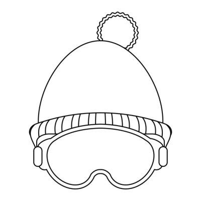 Bonnet d'hiver et lunettes noir et blanc