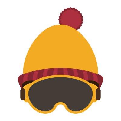 Bonnet et lunettes d'hiver