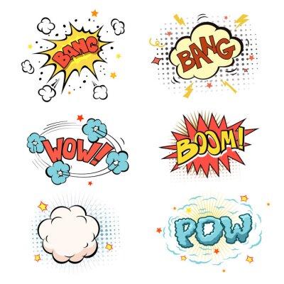 Posters Boom. Comic book explosion jeu