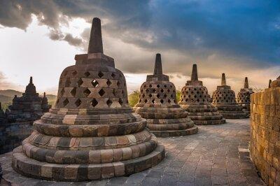 Posters Borobudur temple at sunrise, Java, Indonesia