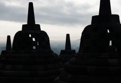 Posters Borobudur Temple, Yogyakarta, Java island, Indonesia.