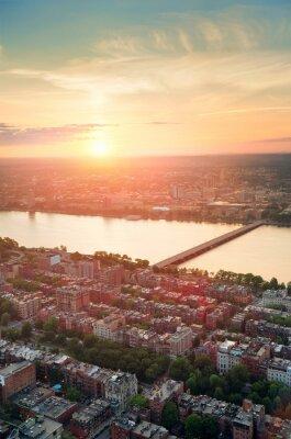 boston coucher du soleil