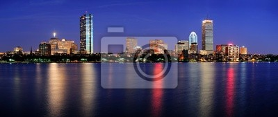 Boston nuit scène panorama