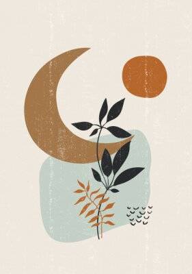 Posters Botanical print boho minimalist printable wall art