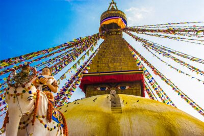 Posters Bouddhanath Stupa, Kathmandu, Népal