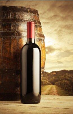 Posters bouteille de vin rouge