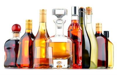 Posters Bouteilles de boissons alcoolisées assorties