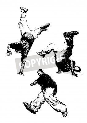 Posters breakdancer trio