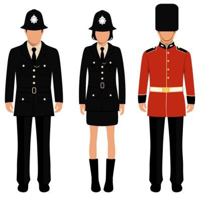 Posters Britannique, garde, anglaise, gens, britannique, policier