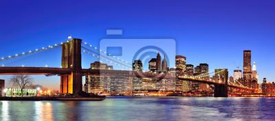 Brooklyn bridge à New York City Manhattan