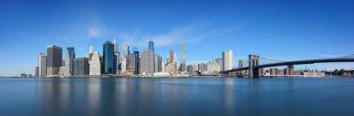 Brooklyn Bridge et le centre-ville de Manhattan