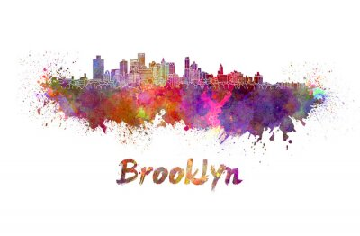 Posters Brooklyn, Horizon, aquarelle