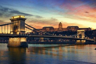 Budapest au coucher du soleil.