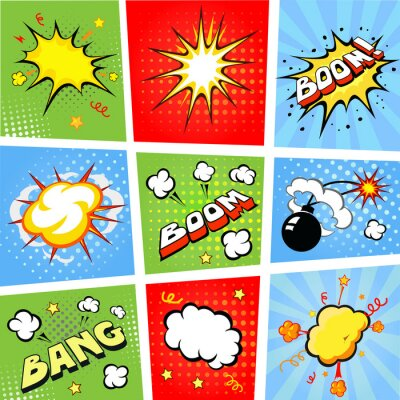 Posters Bulles dessinées et bande dessinée illustration de fond
