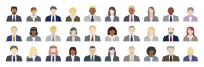 Posters Business people of various nationalities