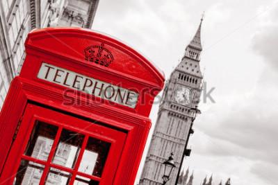 Posters Cabine téléphonique rouge et Big Ben. Londres, Angleterre