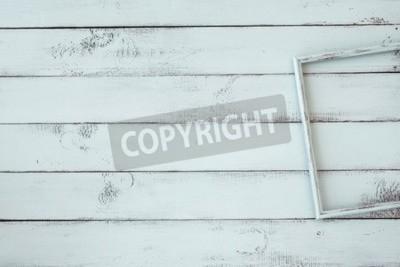Posters Cadre photo en bois sur la menthe shabby chic de fond