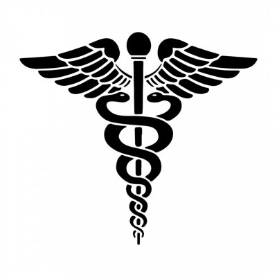 Posters Caduceus - Medical Snake Logo Icon Vector Eps Isolated on White