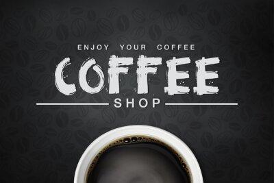 Posters café backgrond