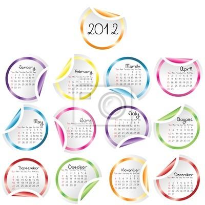 Calendrier 2011 avec bouclées autocollants coins