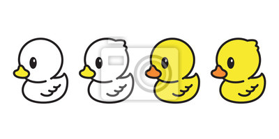 Posters canard caoutchouc icône illustration personnage oiseau ferme animal symbole doodle