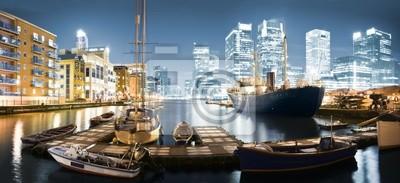 Canary Wharf Skyline au crépuscule