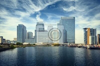 Canary Wharf voir de West India Docks.