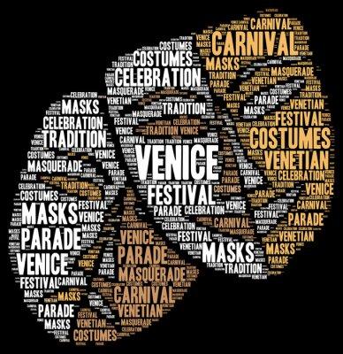Posters Carnaval de Venise en Italie nuage de mots