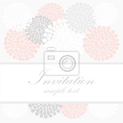 Posters Carte Dinvitation Danniversaire De Mariage Fond Floral Abstrait