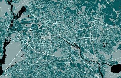 Posters carte de la ville de Berlin, Allemagne