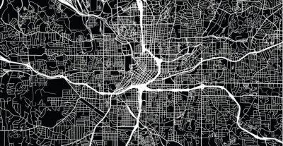 Posters Carte de ville vecteur urbain d'Atlanta, Géorgie, États-Unis d'Amérique