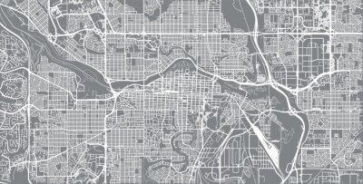 Posters Carte de ville vecteur urbain de Calgary, Canada