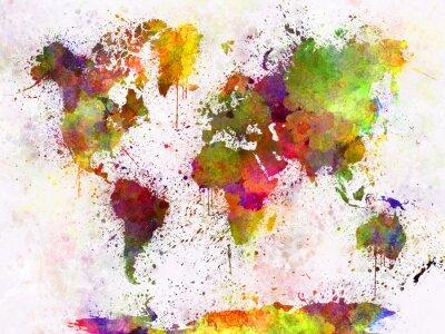 Posters Carte du monde dans l'aquarelle