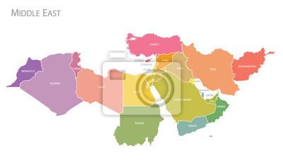 Posters Carte du Moyen-Orient.