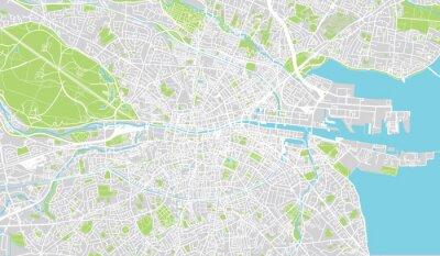 Posters Carte urbaine de Dublin, Irlande
