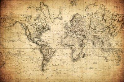 Posters Carte vintage du monde 1814 ..