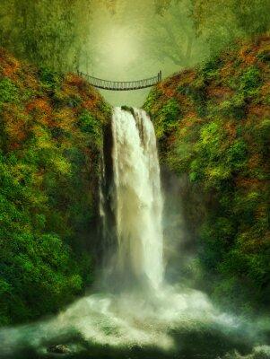 Posters cascade fantastique et le pont