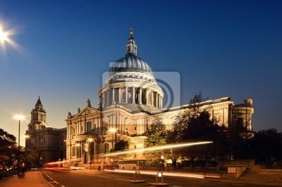 Cathédrale Saint Paul1s. Londres la nuit