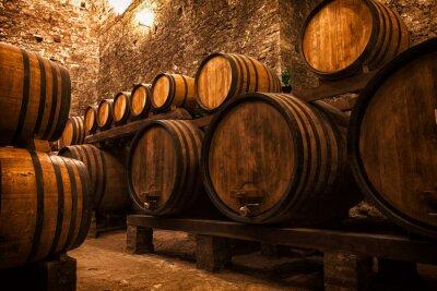 Posters cave à fûts pour le stockage de vin, Italie