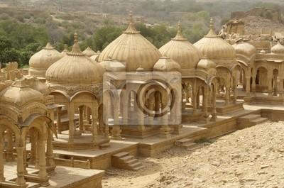 Cenotaphes Dans Le désert du Thar - Jaisalmer - Inde