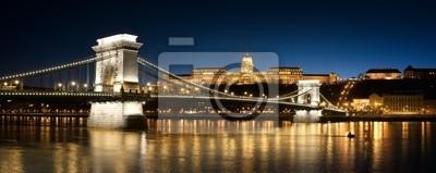 Chain Bridge, le Palais Royal et le fleuve Danube