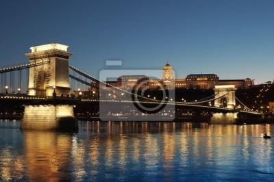 Chain Bridge, le Palais Royal rivière à Budapest