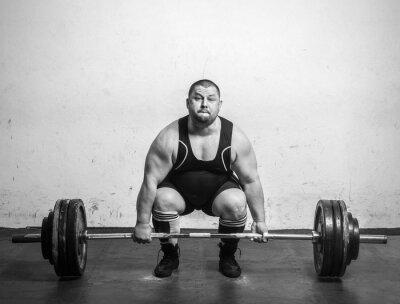 Posters Champion Powerlifter avec des bras solides poids de levage